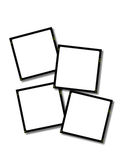 Blank Slides - 35mm. Four blank 35mm slides, with drop shadow Royalty Free Stock Images
