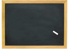 Blank slightly dirty blackboard Royalty Free Stock Images