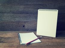 Blank Small notepad Stock Photo
