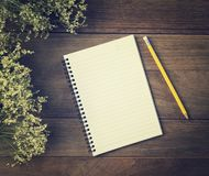 Blank Small notepad Royalty Free Stock Photography