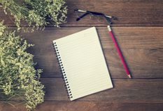 Blank Small notepad Royalty Free Stock Images