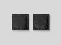 Blank small plastic packet design mockup, 3d illustration, Royalty Free Stock Image