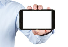 Blank smart phone with clippin path Royalty Free Stock Image