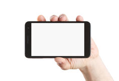 Blank smart phone with clipping path Stock Images
