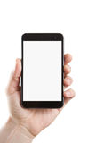 Blank smart phone with clipping path Stock Photography