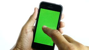 Blank smart phone by touchscreen. stock footage