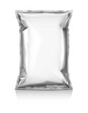 Blank snack pouch. Isolated on white background Royalty Free Stock Image