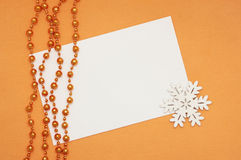 blank, snowflake and  beads Stock Image