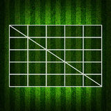 Blank Soccer  (4x4 ) Table score. Stock Images
