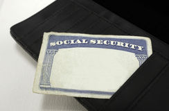 Blank Social Security Card Stock Photos