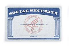 Free Blank Social Security Card On A White Royalty Free Stock Photo - 213089785