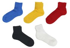 Blank socks color set Royalty Free Stock Images