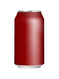 Blank Soda Can. Aluminum soft drink can on white background Royalty Free Stock Photo