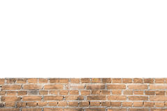 Blank space ant pattern of orange olld wall brick background st stock image