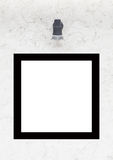 Blank space name plate on white wall Royalty Free Stock Photo