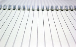Blank space in notebook Royalty Free Stock Photo