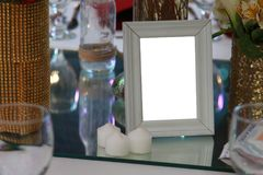 Blank space photo frame. Provide your design inside the frame Stock Images