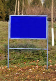 Blank space warning sign. In the forest stock image