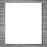 Blank space white billboard on wood Royalty Free Stock Photo