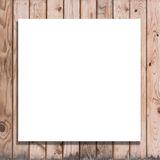 Blank space white billboard on wood background Royalty Free Stock Photo