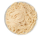 Blank spaghetti plate Royalty Free Stock Images