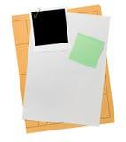 Blank sparar den nöjda mappen Arkivfoto