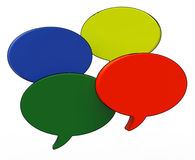 Blank Speech Balloon Shows Copy space For Thought Chat Or Idea Royalty Free Stock Photo