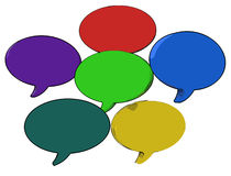 Blank Speech Balloon Shows Copy space For Thought Chat Or Idea Stock Photography