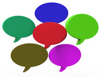 Blank Speech Balloon Shows Copyspace For Thought Chat Or Idea Royalty Free Stock Images
