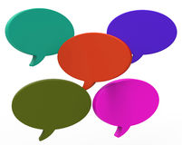 Blank Speech Balloon Shows Copyspace For Thought. Blank Speech Balloon Showing Copyspace For Thought Chat Or Idea Royalty Free Stock Image