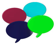 Blank Speech Balloons Shows Copy space For Thought Chat Or Idea Royalty Free Stock Images