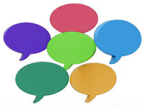 Blank Speech Balloons Shows Copy space For Thought Chat Or Idea Stock Images