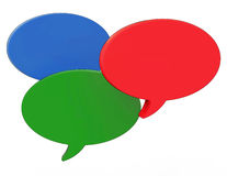 Blank Speech Balloons Shows Copyspace For Thought Chat Or Idea Stock Photo