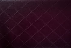 Blank Speech Bubble on Brown leather Background Royalty Free Stock Images
