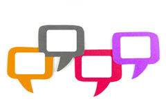 Blank speech bubble four objects Royalty Free Stock Images