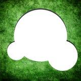 Blank speech bubble on Grunge green background Stock Photography
