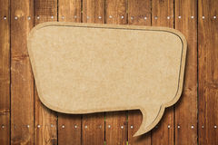 Blank Speech Bubble on wood Royalty Free Stock Photo