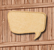 Blank Speech Bubble on wood Stock Photos