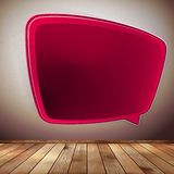 Blank Speech Bubble on wood background. EPS10 Stock Images