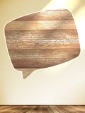 Blank Speech Bubble on wood background. EPS10 Royalty Free Stock Photo