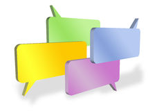 Blank speech bubbles Stock Images