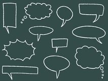 Blank speech bubbles Stock Photography