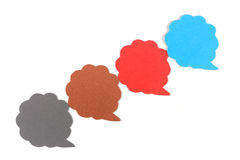 Blank speech bubbles ,Cloud shaped ,Four objects Royalty Free Stock Image