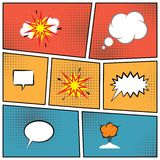 Blank speech bubbles Royalty Free Stock Image