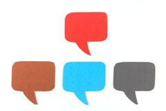 Blank speech bubbles ,Four objects Stock Images
