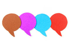 Blank speech bubbles ,Four objects Royalty Free Stock Photography