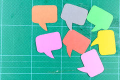 Blank speech bubbles ,Group of Objects Stock Photo