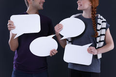 Blank speech bubbles Royalty Free Stock Images