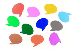 Blank speech bubbles ,Multi Colored Royalty Free Stock Image