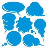 Blank speech bubbles set vector illustration